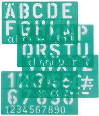 Linex 100412307 Groen Polypropyleen Letter/number stencil belettering