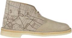 Grigio Clarks Polacchine stivaletti scarpe uomo camoscio