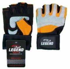 Zwarte Legend Sports Fitness Handschoenen Legend Grip Oranje/grijs - Maat: Xs