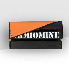 Ohmiomine Transporter Fietskrat Zwart inclusief Feestelijk Oranje Afdekhoes