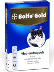 Bolfo Gold Kat 80 - Anti vlooien en tekenmiddel - 2 stuks Van 4 Kg