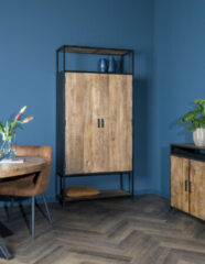 Zwarte Livingfurn   Sturdy   Wandkast   2 deurs