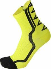 Mico Lightweight extra dry bike sock 15 cm neon geel L