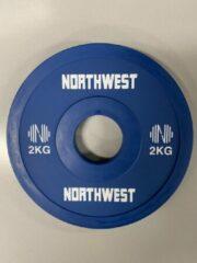 Northwest Fractional Halterschijf | Change Plate | 2 x 2 KG | Blauw