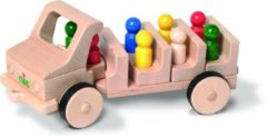 Nic Voertuig Creamobil Familie-uitje 43 Cm Hout Blank