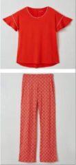 Lords & Lilies pyjama dames - rood - 211-5-LPB-Z/433 - maat S