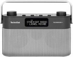 TechniSat TECHNIRADIO 8 draagbare radio DAB+, FM met spraakondersteuning, zwart, grijs