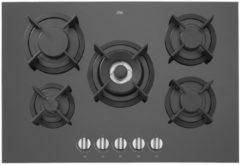 ETNA KGG673ZTA - Inbouw gaskookplaat - Zwart glas - 73cm
