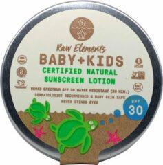 Raw Elements Natuurlijke Zonbescherming Baby + Kids SPF 30 - blik- plasticvrij