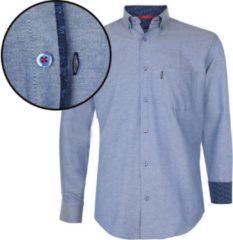 Blauwe Donadoni Regular fit Heren Overhemd Maat S