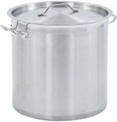 Zilveren VidaXL Kookpan 33 L 35x35 cm roestvrij staal