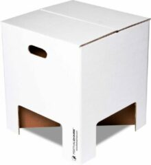 Dutch Design Brand - Dutch Design Chair - kartonnen krukje - Wit - White