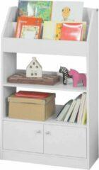Witte Simpletrade Boekenkast - Opbergkast - Voor kinderen - 4 compartimenten - 60x107x24 cm