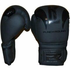 """PunchR™ Punch Round Bokshandschoenen """"SLAM"""" Zwart op Zwart Kies hier uw maat Bokshandschoenen: 12 OZ"""