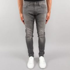 Grijze G-Star RAW Revend low rise super slim fit jeans met ripped detail