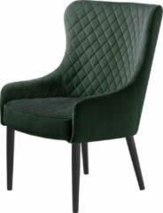 Hioshop Otis fauteuil groen velours.