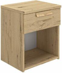 Gamillo Furniture Nachtkastje Cyrus 50 cm hoog in helvezia eiken