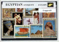 Transparante KLOMP G.T.P Egypte - postzegelpakket cadeau met 25 verschillende postzegels