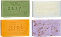 Le Chatelard 1802 Marseille zeep 4 x 100 gram in geuren olijven-kokosmelk-honing-lavendel