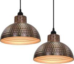 Bruine VidaXL Plafondlampen halve bolvorm koperkleurig 2 st