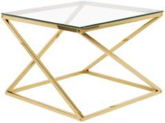 Transparante Salontafel glas/goud BEVERLY