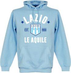 Merkloos / Sans marque Lazio Roma Established Hooded Sweater - Lichtblauw - XL