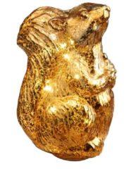 LED Dekorations Eichhörnchen gold