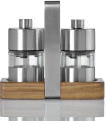 Ad Hoc Adhoc Menage Minimill Peper- en Zoutmolen - RVS/Hout - Zilverkleurig