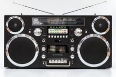 Zilveren GPO Retro GPO BROOKLYN - Ghettoblaster bluetooth, CD, cassette, USB en DAB+ radio - Zwart