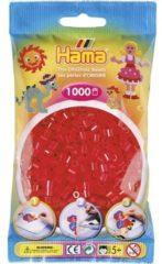 Rode Hama Strijkkralen 1000 Stuks Rood Doorzichtig