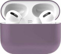 Teddo Apple Airpods Pro Siliconen - Case - Cover - Hoesje - Geschikt voor Apple Airpods Pro - Paars
