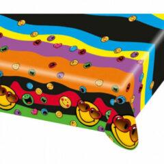 Smiley™ Plastic tafelkleed Smiley World™ - Feestdecoratievoorwerp