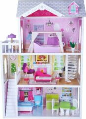 Roze Bandits & Angels Poppenhuis Angels Country House met 12 delige meubelset