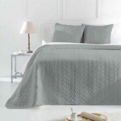 Welterusten Luxe bed sprei deken LAMBA grijs 250 x 270 met kussenslopen