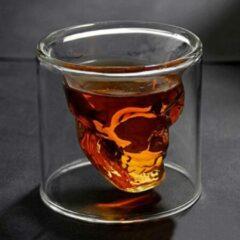 Transparante Merkloos / Sans marque Doomed Designer Schedel Skull Borrelglas Shot Glas 2 stuks