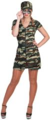 Groene Funny Fashion Verkleedpak militair soldaat jurk vrouw Military Monica 36-38
