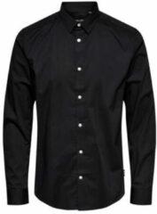 ONLY & SONS Effen Gekleurd Overhemd Heren Zwart