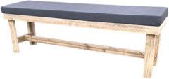 Bruine Wood4you - Tuinbank Rotterdam steigerhout -160Lx49Hx38D cm - incl kussen