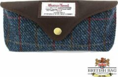 Rode The British Bags Company Bril etui the Allasdale Harris Tweed/ Leer