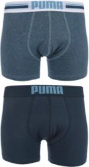 Blauwe PUMA Placed Logo Boxershort - 2-pack - Denim - Maat M