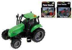 Groene Kids Globe Tractor met licht en geluid - Speelgoedvoertuig: 8 cm