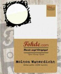 Witte Fohde Hoeslaken Molton Waterdicht hoeslaken - 180 X 220 cm