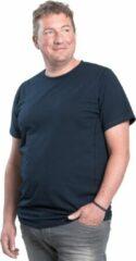 Alca Fashion 7XL 2pack T-shirt heren ronde-hals blauw | Grote maten ronde hals T-shirt | Buikmaat 162 - 169 cm buikomvang | XXXXXXXL