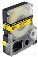Epson sterk hechtende tape breedte 9 mm, zwart/geel