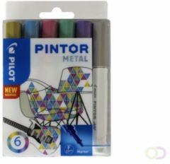 Paarse Pilot Pintor Metallic Verfstiften Set - Metal Set - Fijne marker met 2,9mm punt - Inkt op waterbasis - Dekt op elk oppervlak, zelfs de donkerste - Teken, kleur, versier, markeer, schrijf, kalligrafeer…