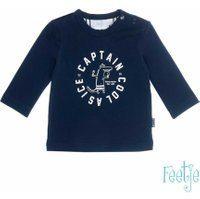 Feetje! Jongens Shirt Lange Mouw - Maat 62 - Donkerblauw - Katoen/elasthan