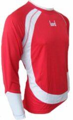 KWD Shirt Nuevo lange mouw - Rood/wit - Maat M