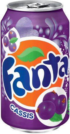 Afbeelding van Coca Cola Company Fanta Cassis frisdrank, blik van 33 cl, pak van 24 stuks