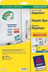 AVERY Zweckform J8875-5 Magnetische Signs 50 x 140 mm Wit Rechthoekig 5 Vellen van 8 Etiketten