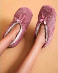 Sorprese cosy – pantoffels dames – roze – maat 39-41 – sloffen dames